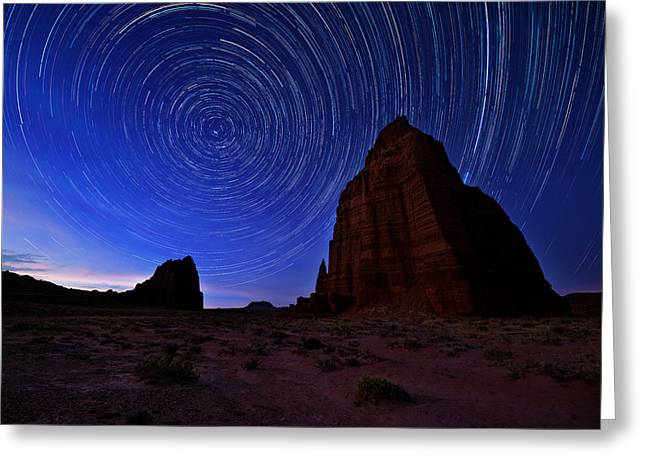 Exposure Greeting Cards - Stars Above the Moon Greeting Card by Chad Dutson