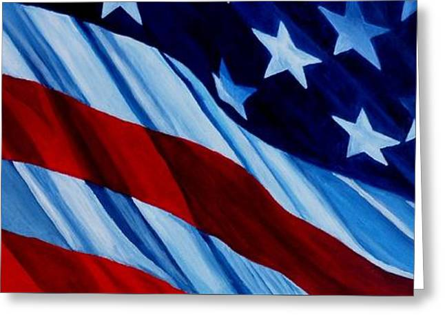 4th July Greeting Cards - STARS and BARS Greeting Card by Julie Brugh Riffey