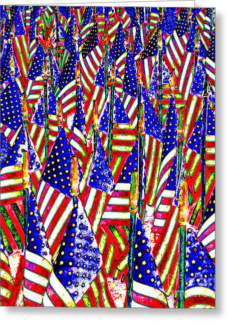 4th July Digital Greeting Cards - Stars and Stripes 20140821 Greeting Card by Wingsdomain Art and Photography