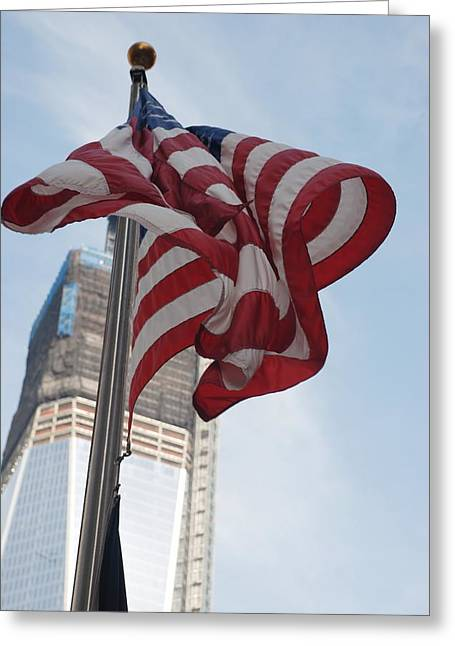 Stars And Stripes And 1 W T  C Greeting Card by Rob Hans