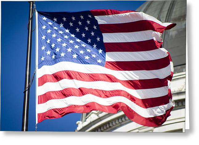 Republican Greeting Cards - Stars and Stripes Greeting Card by Helix Games Photography