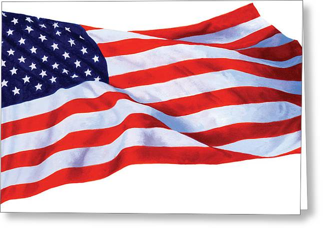 Identity Greeting Cards - Stars And Stripes Greeting Card by Chris Heitt