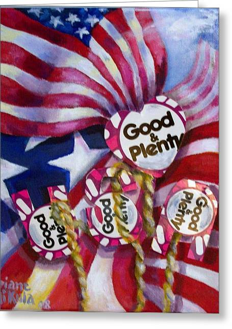 4th July Greeting Cards - Stars and Stripes Greeting Card by Diane Mikula