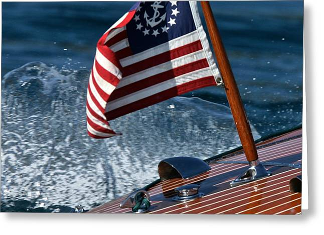 Stars and Stripes Ensign Greeting Card by Steven Lapkin