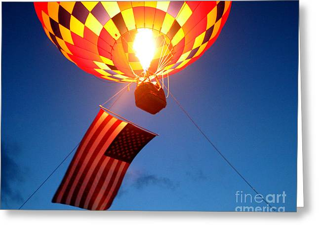 Stars and Stripes Glow Greeting Card by Paul Anderson