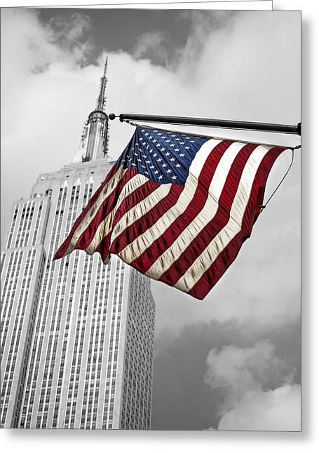 Stars And Strips Greeting Cards - Stars and Stripes Greeting Card by John Hall