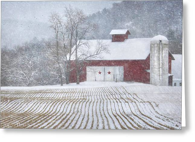 Barn Digital Art Greeting Cards - Stars and Stripes Greeting Card by Lori Deiter