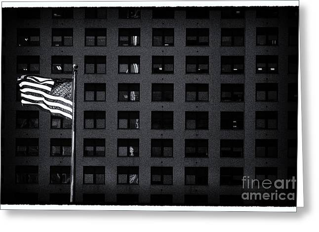 Filmnoir Greeting Cards - Stars and Stripes New York City Greeting Card by Sabine Jacobs