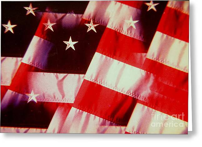 Faa Exclusive Greeting Cards - STARS and STRIPES Greeting Card by Shasta Eone