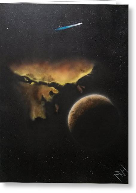 Etc. Paintings Greeting Cards - Stars Are What Dream Are Made Of Greeting Card by Michael Hall