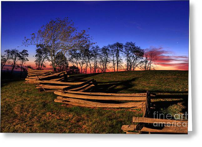 Stars At Sunrise On The Blue Ridge Greeting Card by Dan Carmichael