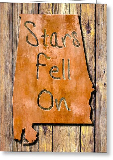 Copper Patina Greeting Cards - Stars Fell On Alabama Greeting Card by Mark E Tisdale