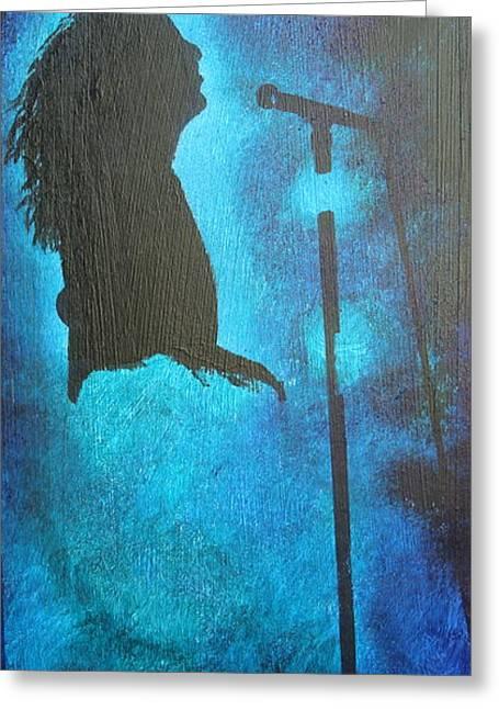Original Robert Plant Paintings Greeting Cards - Stars Fill My Dreams Greeting Card by Stuart Engel