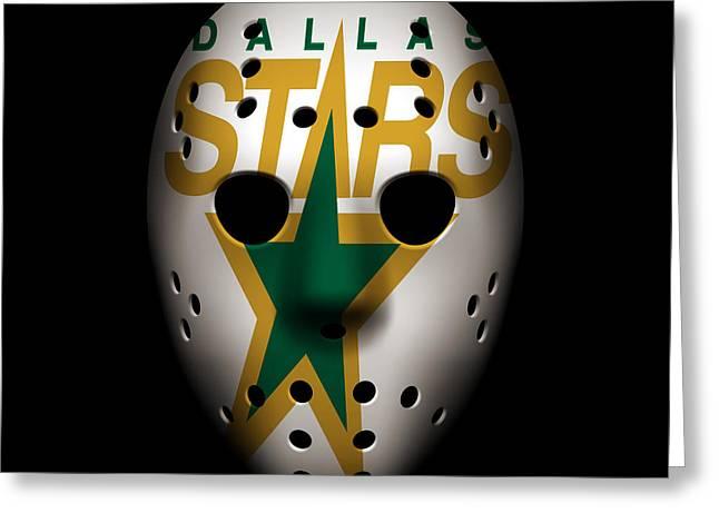 5 Star Greeting Cards - Stars Goalie Mask Greeting Card by Joe Hamilton