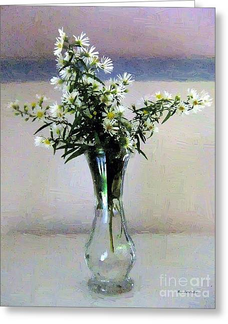 Aster Digital Art Greeting Cards - Stars in a Vase Greeting Card by RC deWinter