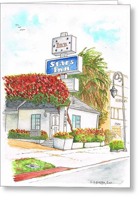 Stars Inn Motel In Century City - California Greeting Card by Carlos G Groppa