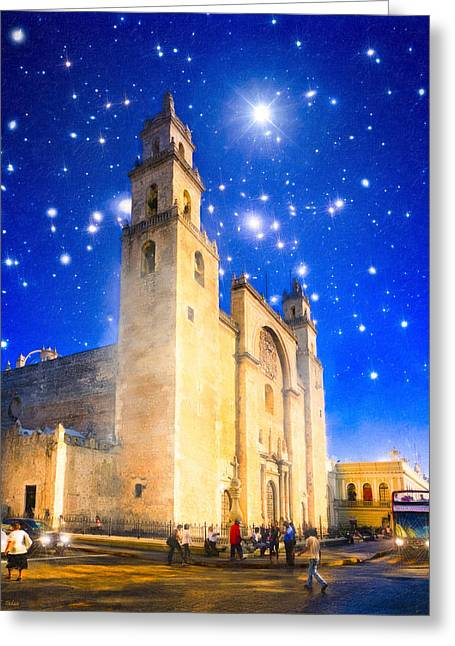 American Colonial Architecture Greeting Cards - Stars Shine on Merida Greeting Card by Mark Tisdale