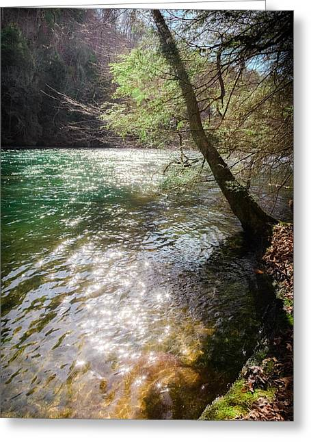 Tennessee River Greeting Cards - STARS UPON the RIVER Greeting Card by Karen Wiles
