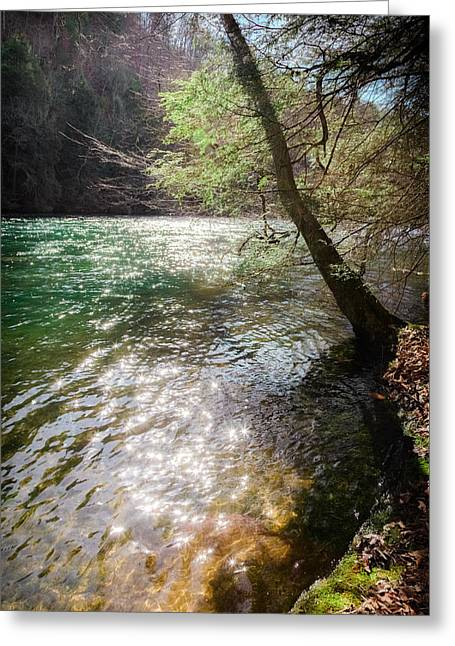 Best Sellers -  - Tennessee River Greeting Cards - STARS UPON the RIVER Greeting Card by Karen Wiles