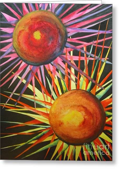 Star Greeting Cards - Stars with Colors Greeting Card by Chrisann Ellis