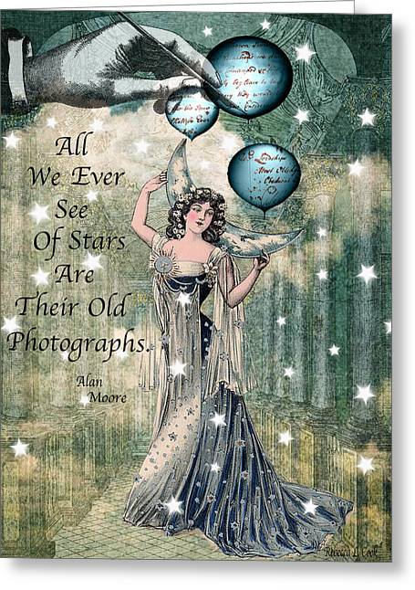 Twinkle Mixed Media Greeting Cards - Starshine Greeting Card by Bellesouth Studio