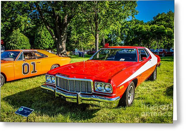 Dukes Of Hazard Show Greeting Cards - Starsky and Hutch Ford Gran Torino Greeting Card by Grace Grogan