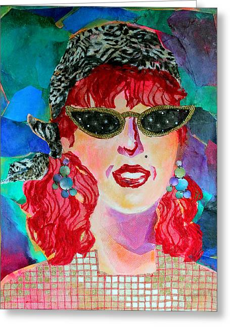 Recently Sold -  - Beauty Mark Mixed Media Greeting Cards - Starstruck Greeting Card by Diane Fine