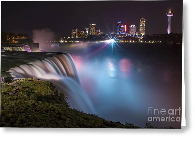 Niagara Falls Greeting Cards - Starstruck Greeting Card by Evelina Kremsdorf