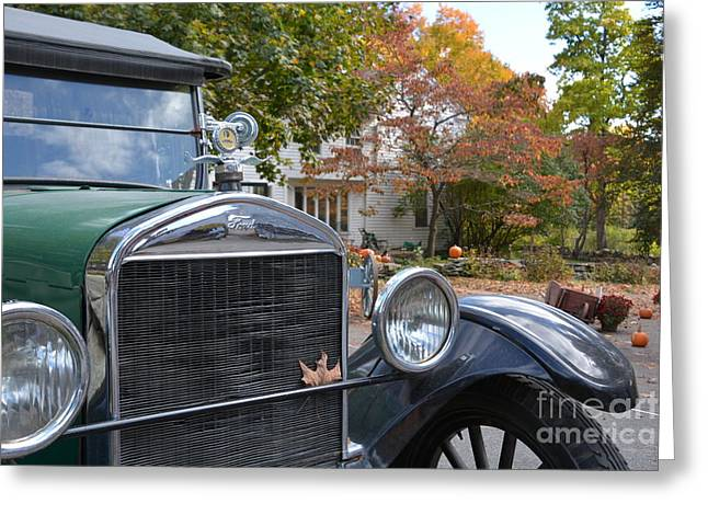 Ford Model T Car Greeting Cards - Start Her Up Greeting Card by Lisa Kilby