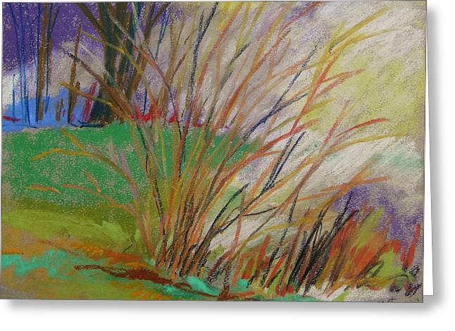 Tos Pastels Greeting Cards - Started to Brighten Greeting Card by John  Williams