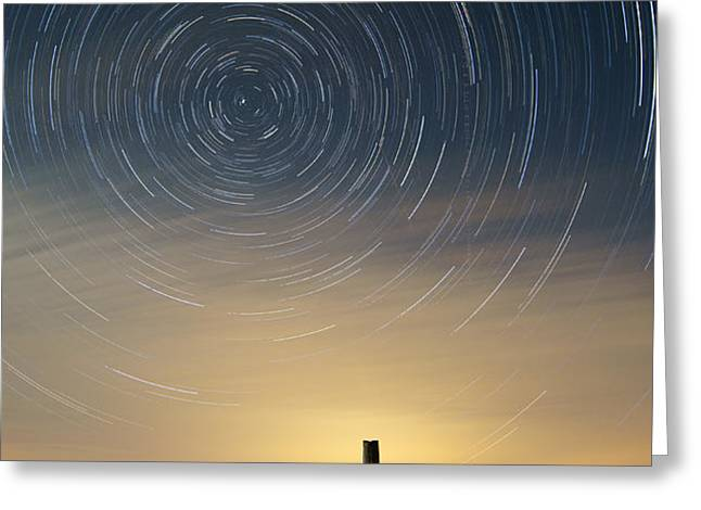 Startrails 2 Greeting Card by Benjamin Reed