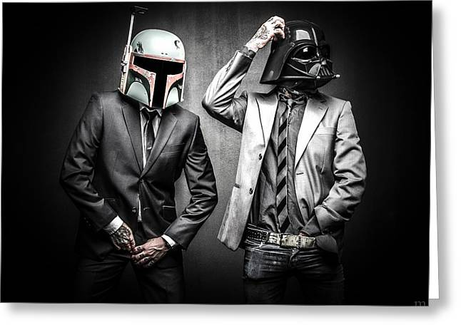 Star Wars Photographs Greeting Cards - Starwars suitup Greeting Card by Marino Flovent