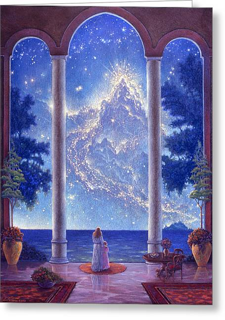 Starway To Heaven Greeting Card by Michael Z Tyree