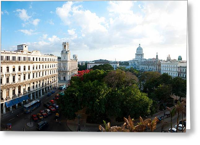 Capitol Greeting Cards - State Capitol Building In A City Greeting Card by Panoramic Images