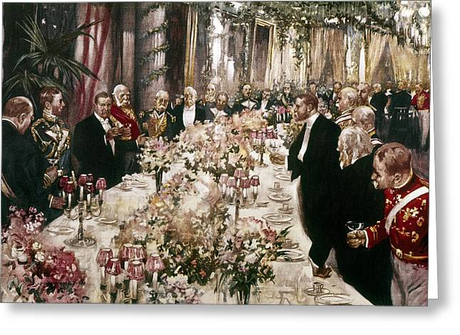 Republican Greeting Cards - State Dinner, 1902 Greeting Card by Granger