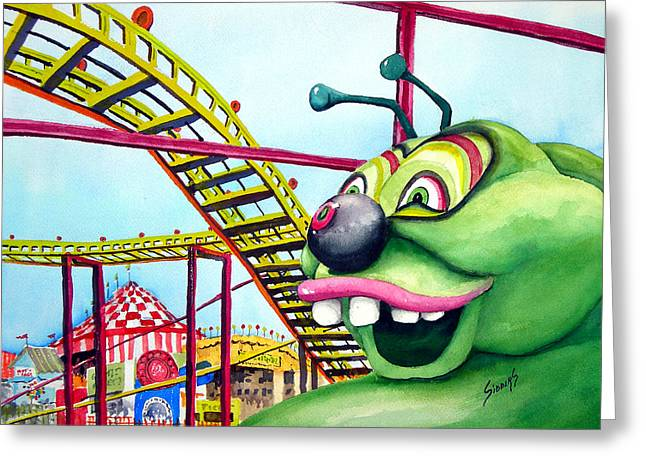 Caterpillar Greeting Cards - State Fair Caterpillar Greeting Card by Sam Sidders