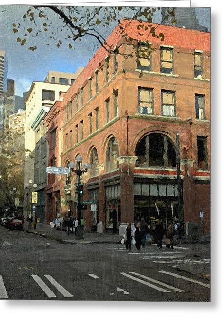 State Hotel At S. Washington St. Greeting Card by Marvin C Brown