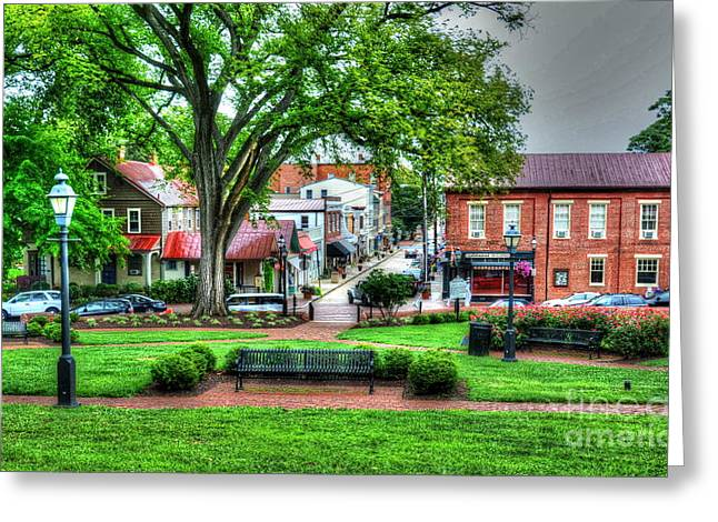 Annapolis Maryland Greeting Cards - State House Grounds Greeting Card by Debbi Granruth
