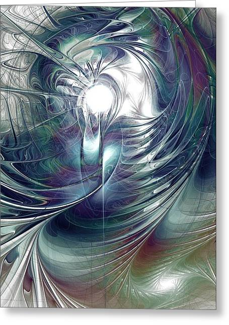 Feng Shui Art Mixed Media Greeting Cards - State of Flux Greeting Card by Anastasiya Malakhova