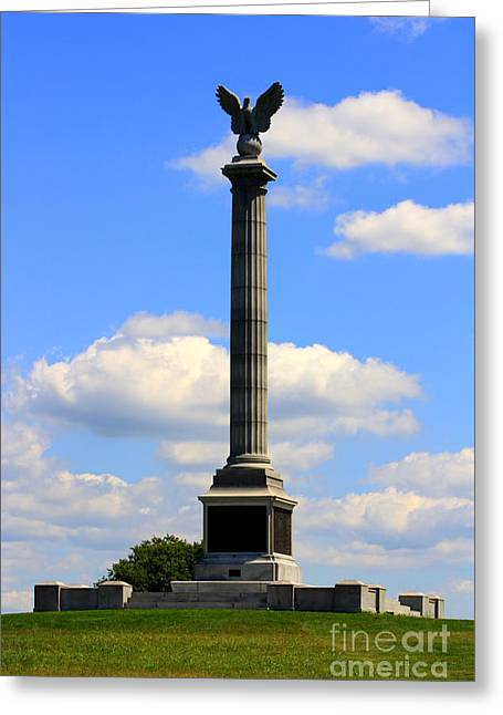 Civil War Site Greeting Cards - State of New York Monument at Antietam Greeting Card by Patti Whitten