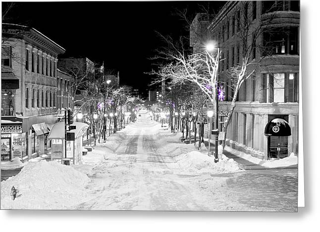State Street Madison Greeting Card by Steven Ralser