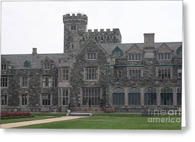 Sand Castles Greeting Cards - Stately Mansion Rear Entrance Greeting Card by John Telfer