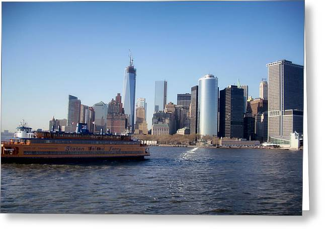 Staten Island Greeting Cards - Staten Island Ferry Greeting Card by Mountain Dreams