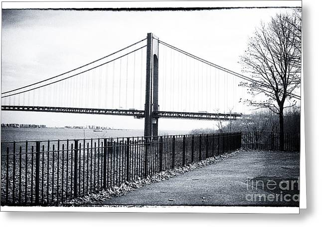 Walk Paths Greeting Cards - Staten Island Stroll 1990s Greeting Card by John Rizzuto