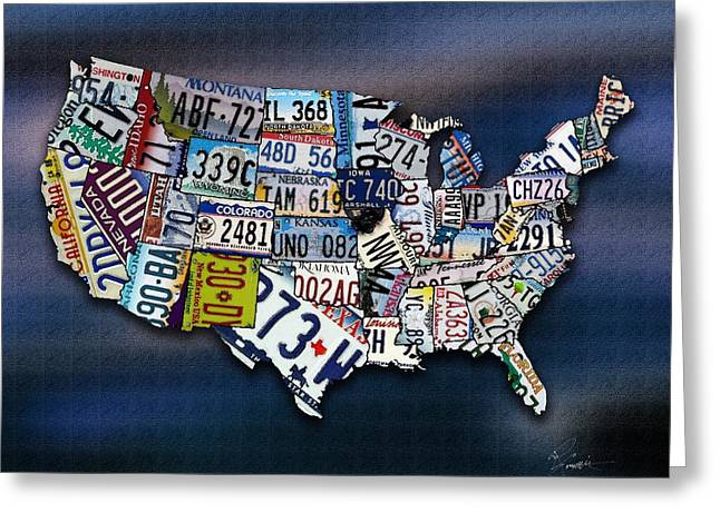 States Greeting Card by Robert Smith