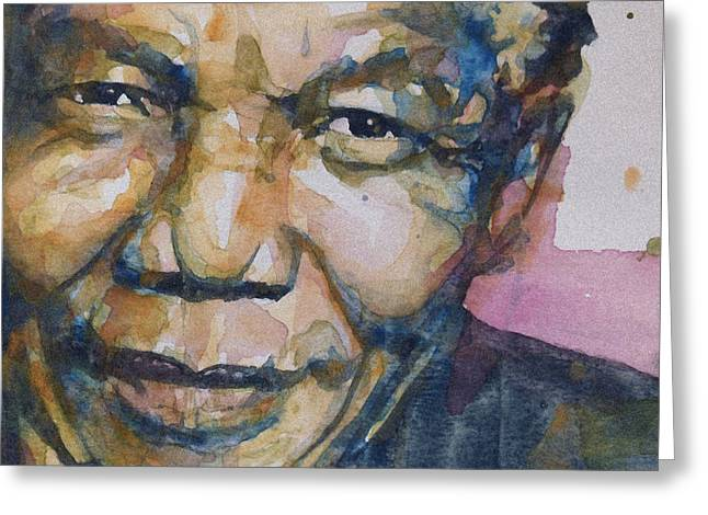 Eyes Paintings Greeting Cards - Statesman Greeting Card by Paul Lovering