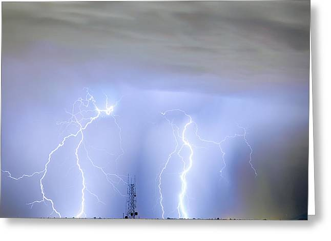 Lightning Gifts Photographs Greeting Cards - Static On The Line Greeting Card by James BO  Insogna