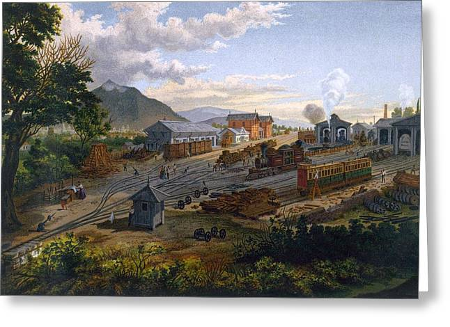 Station At Orizaba, 1878 Greeting Card by Casimior Castro