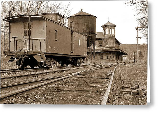 Rail Siding Greeting Cards - Station Portrait Greeting Card by Mike Flynn
