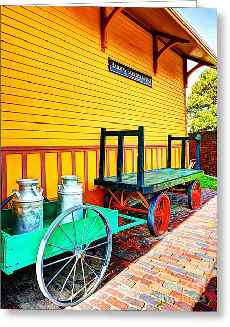 Station Wagon Greeting Cards - Stationary Colors Greeting Card by Mel Steinhauer